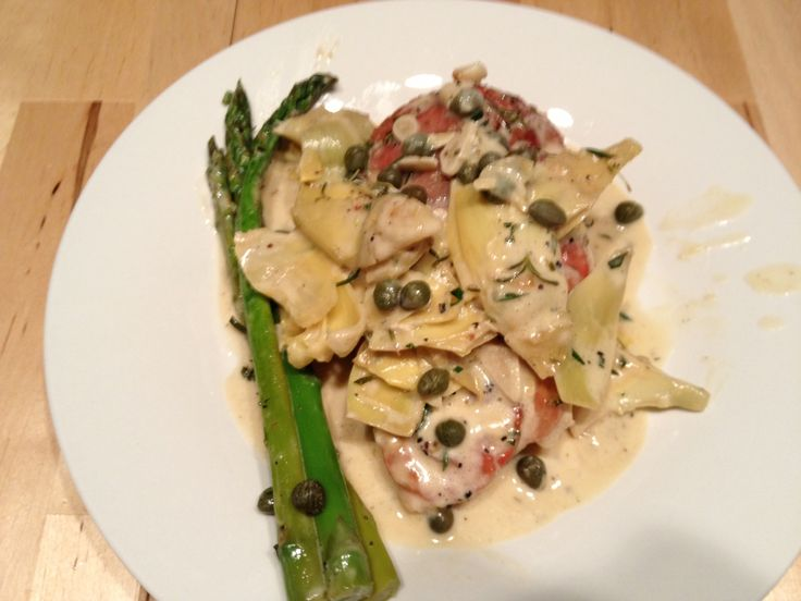 Chicken artichokes and capers. | yummy mummy | Pinterest