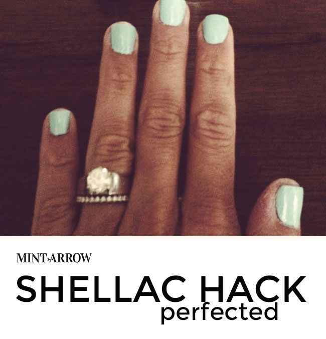 shellac hack - make your polish last a week! no light for curing and