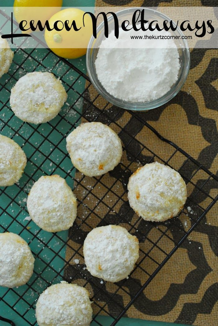 Lemon Meltaway Cookies | Favorite Recipes | Pinterest