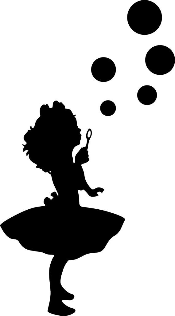 Girl Blowing Bubbles 2 Girls Room Wall Decal by ...