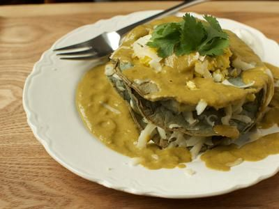 Scrambled Eggs Chiliquiles With Roasted Tomatillo Sauce — The ...