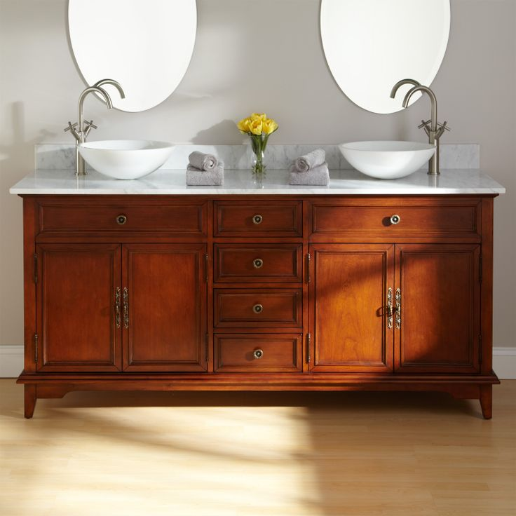72 montgomery double vessel sink vanity bathroom ideas for Bathroom ideas vessel sink