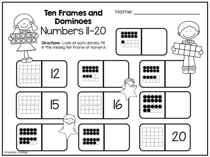 Similiar Math Ten Frames Printable Keywords