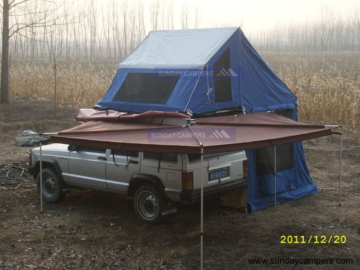 Cool Amerian Style Camper Trailer With Roof Top Tent