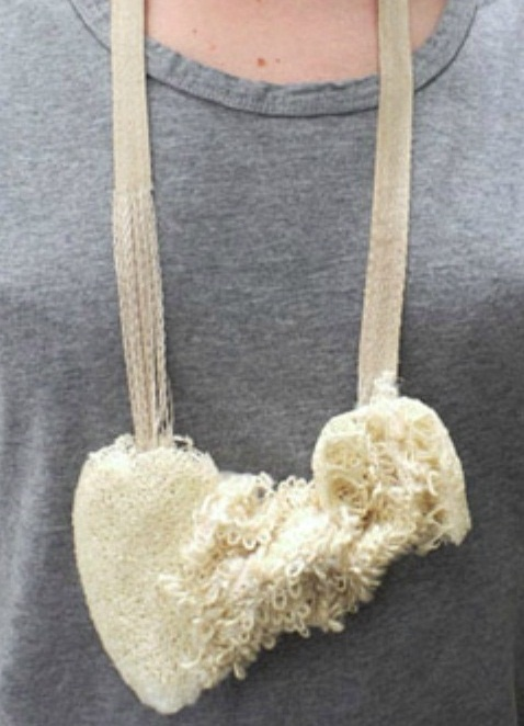 Nicolas Cheng - the beauty of nothingness - necklace - cotton, loofah, sisal fibre, silk