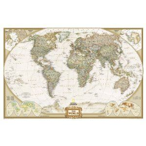 National Geographic | Antique Wall Map