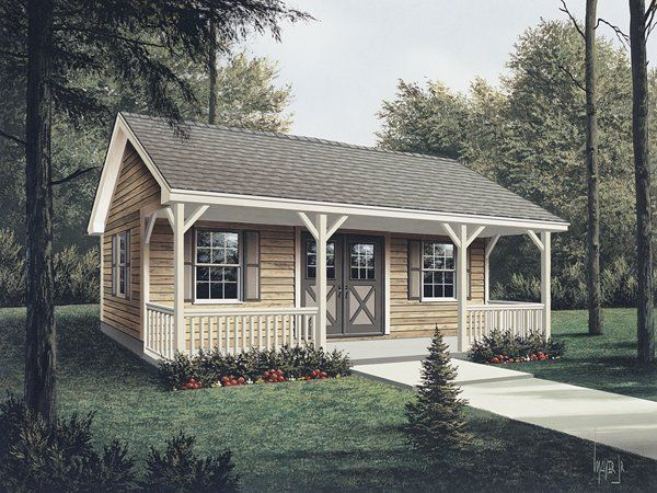 Workroom with covered porch shed dream home pinterest for Shed with porch