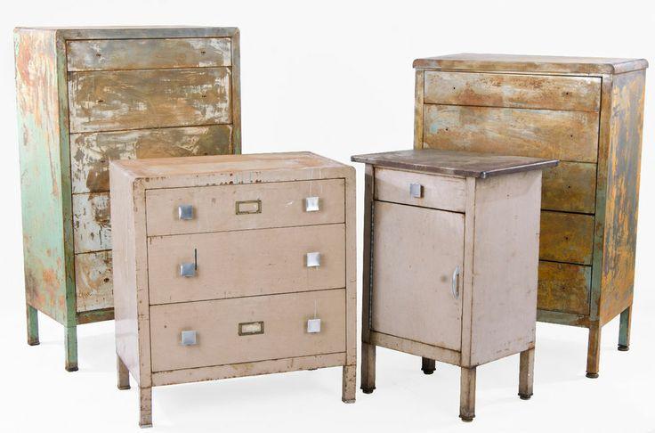 Set 4 Simmons Vintage Dresser Vintage Industrial Mid Century Furnitur