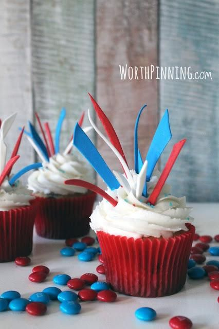 july 4th cupcake recipes