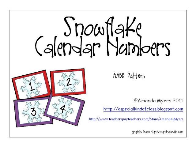 Snowflake Calendar Printables : Free snowflake calendar numbers calander printables
