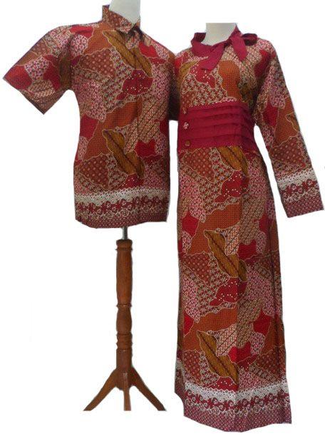 Gamis Batik Merah Model Baju Pinterest