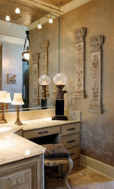 Bathroom mediterranean tuscan old world decor pinterest for Old world bathroom ideas