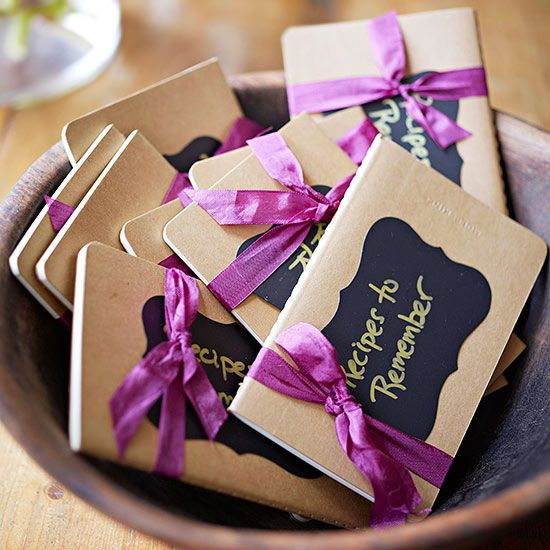 Recipe Book Party Favors