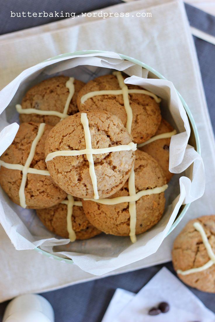 hot cross cookies