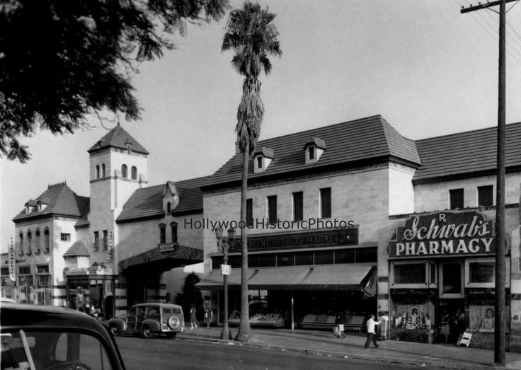 schwabs pharmacy 1938 sunset strip vintage los angeles