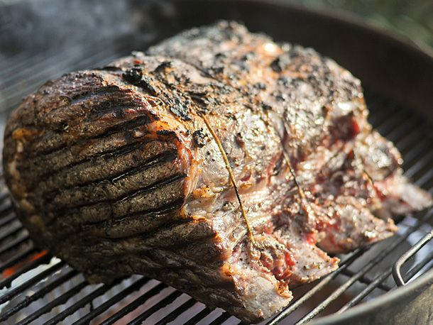 Grill-Roasted Herb-Crusted Standing Rib Roast | Serious Eats : Recipes