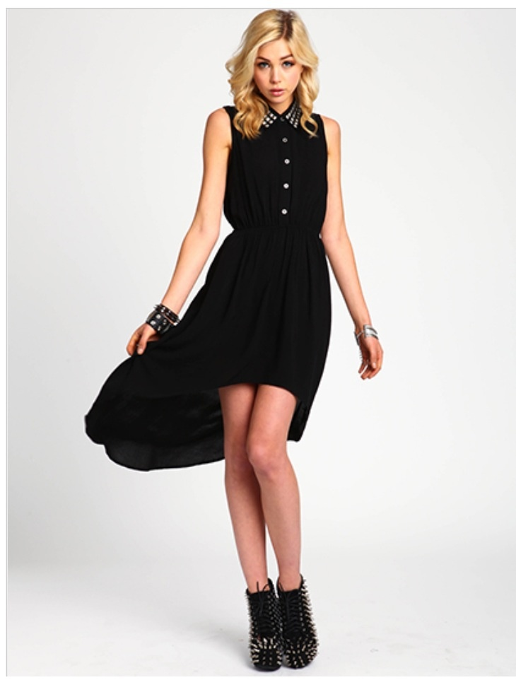 studded collar shirt dress loveculture cute outfits