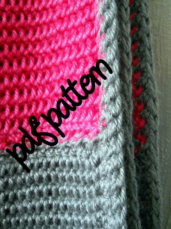 Crochet Patterns Intermediate : PDF Crochet Pattern - Intermediate Level - Hot Pink and Heather Grey ...