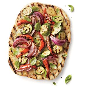 ... meatless; including a recipe for a Grilled Vegetable and Fontina Pizza