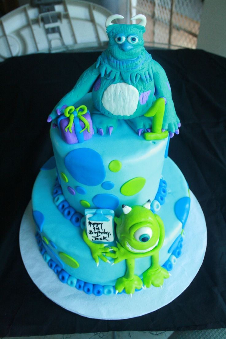 monsters inc birthday cake | Monsters Inc cake | Birthday ideas