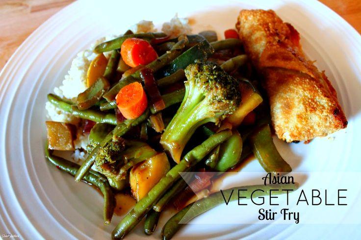 ... VEGETABLE STIR FRY #recipe #stirfry #vegetables #healthydish #summer