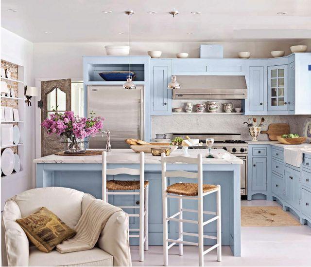 pastel blue kitchen  Blue Kitchens  Pinterest