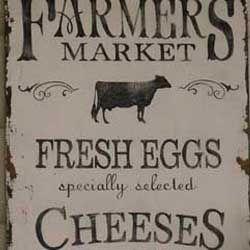 Vintage Farmers Market Sign Vintage Farmers Market...