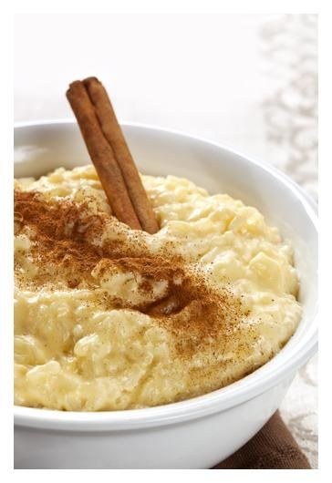 Creamy Rice Pudding.....just add plump, rum soaked raisins....oh yeah ...