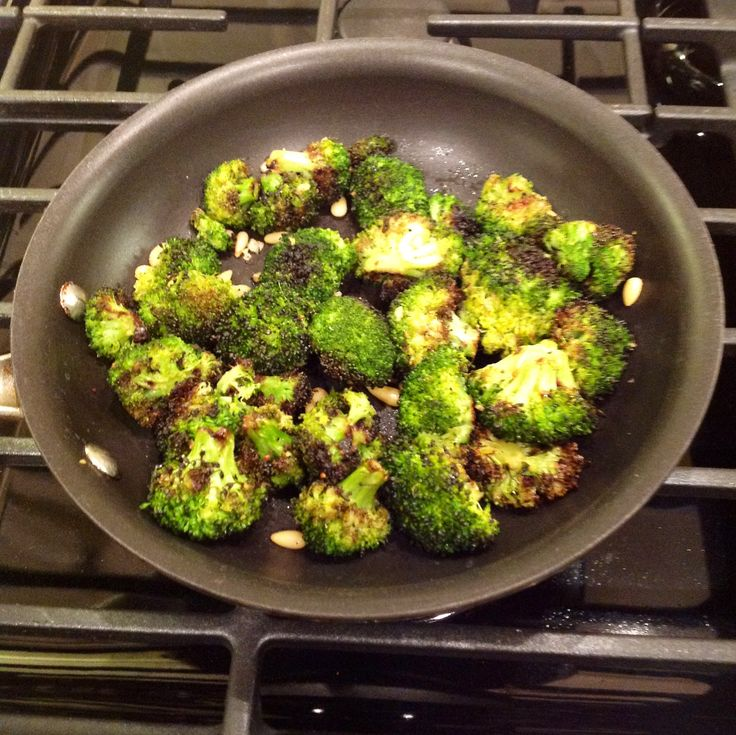 Roasted Broccoli with Lemon Garlic Butter and Toasted Pine Nuts ...