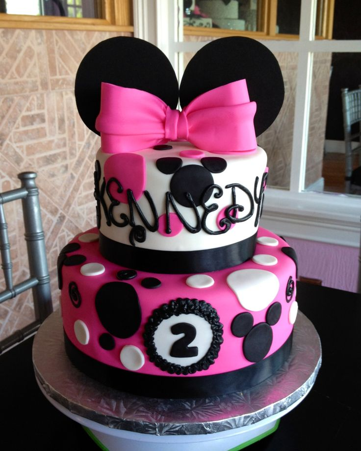Minnie Mouse Birthday Cake Annacakes Com Disney Cakes Pinterest