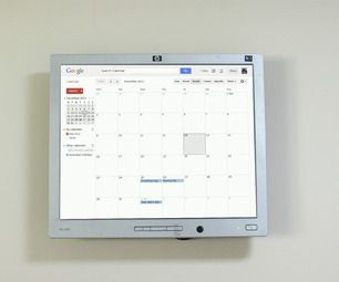 Raspberry Pi Wall Mounted Google Calendar