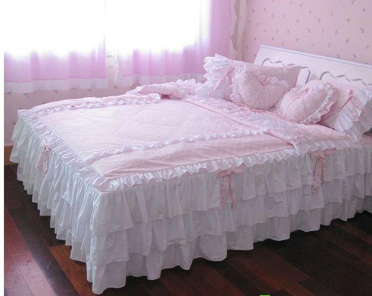 Pink Ruffle Bedding Sewing Pinterest