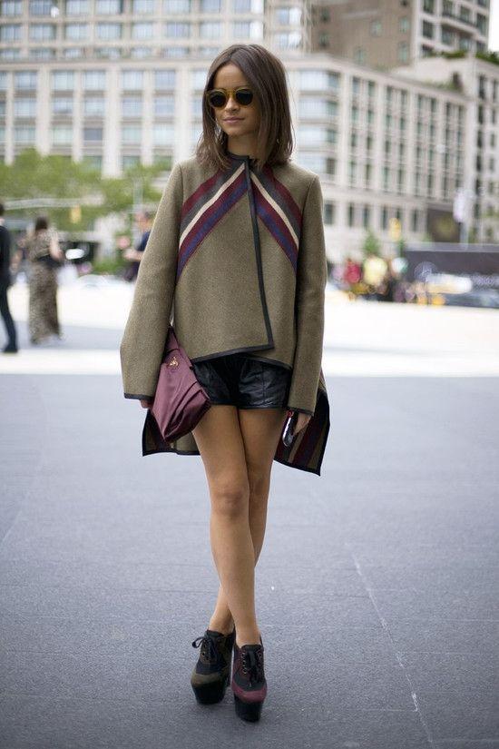 Miroslava duma in derek lam cape street fashion street peeper global