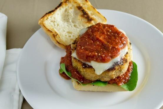 Chicken parmesan burgers | good eats | Pinterest