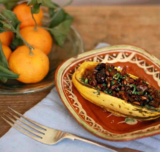 ... Stuffed with Mushrooms, Farro, Pecans & Dried Cranberries | Recipe