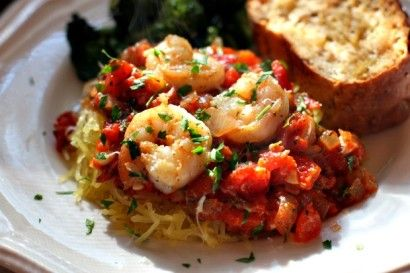 Roasted Spaghetti Squash with Chunky Red Herb Sauce | Tasty Kitchen: A ...
