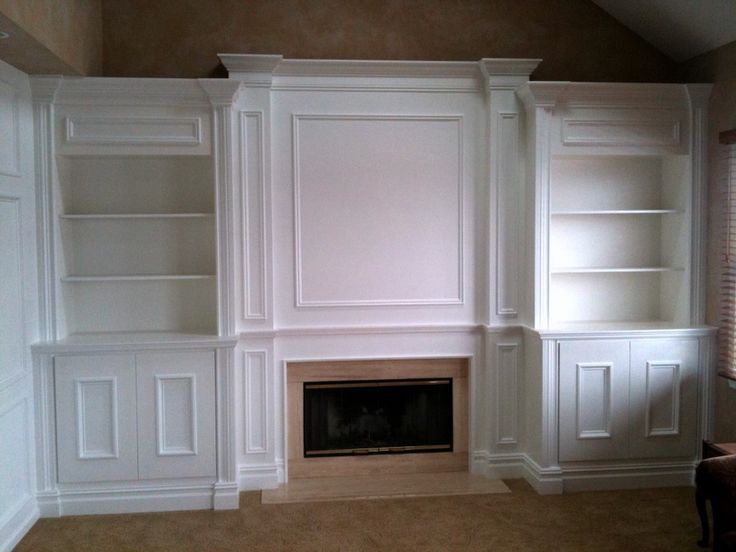 Original Fireplace Remodel With Builtin Bookshelves
