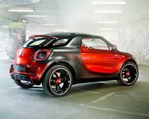 Smart'ın elektrikli iki kişilik konsepti Paris Otomobil Fuarı'nda sergilenecek.