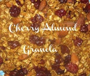 Homemade Crunchy Cherry Almond Granola | Pin it Monday Hop Features ...