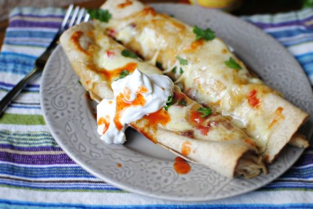 Lighter Chicken Enchiladas...these look amazing!