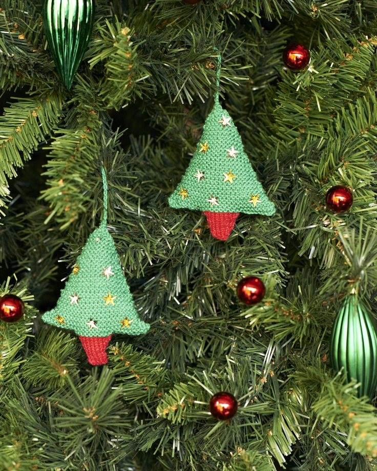 Knitted Xmas Tree Decorations Patterns : knitted tree decorations Patterns Pinterest