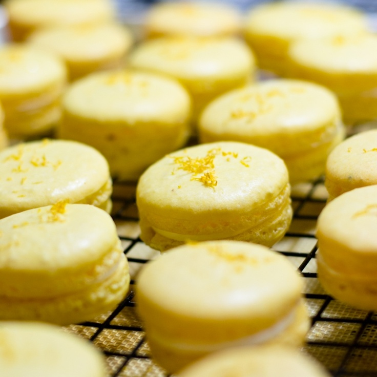 Meyer Lemon Macaroons filled with Swiss Buttercream and Meyer Lemon ...