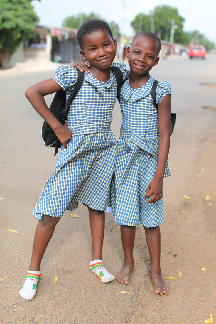 Cute school girls - Ghana.