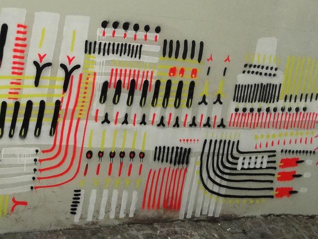 rio de janeiro street art pattern