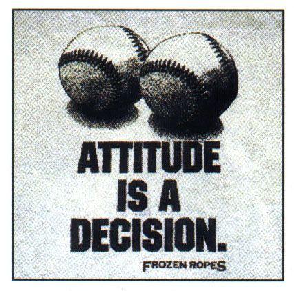 Attitude is a decision