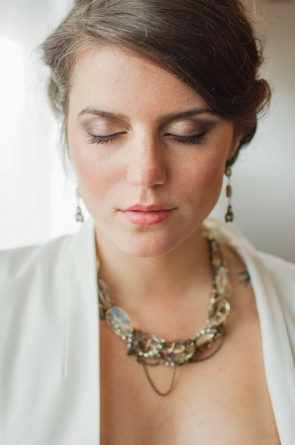 Natural Wedding Makeup Fair Skin : Winter Industrial Chic Shoot from Brittany Lauren Photography