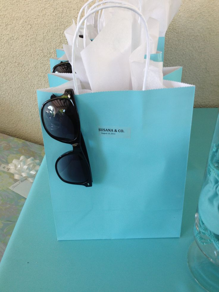 Ideas For Wedding Shower Gift Bags : Tiffany theme gift bags Tiffany themed bridal Shower Pinterest