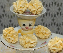 Lovely yellow meringues ~ perfect for Spring teas and Easter events