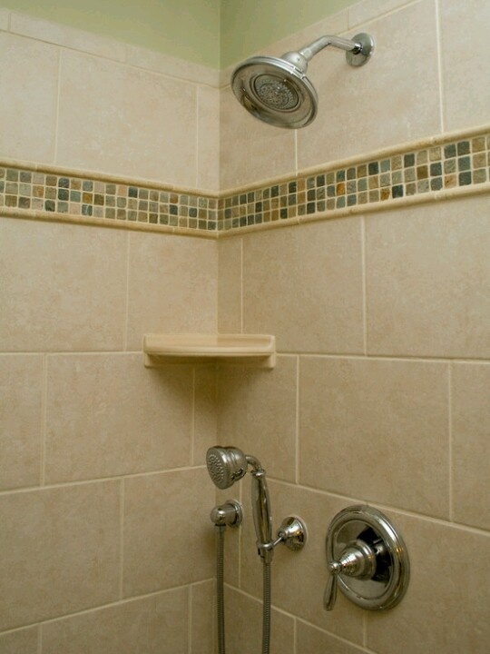 Luxury Mosaic Cream And Brown Bathroom Wall Tiles  Ream
