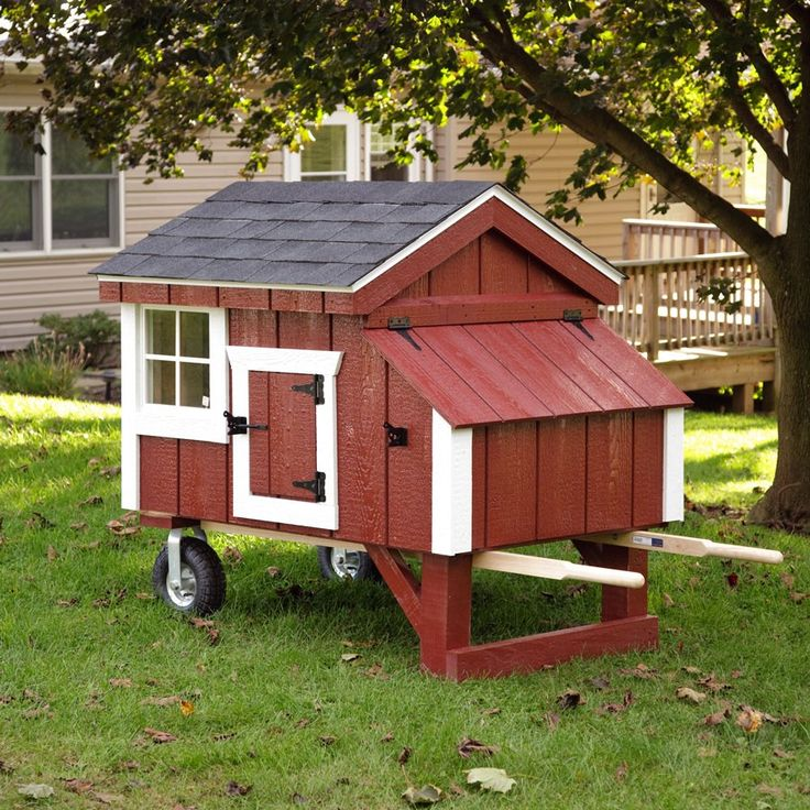 Amish red a frame wheelbarrow chicken coop 3 x 4 for Red chicken coop